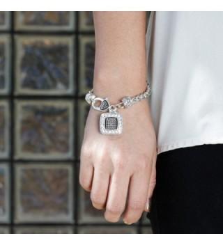 Classic Silver Plated Crystal Bracelet in Women's Link Bracelets