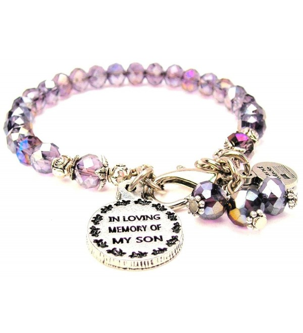 Lavender Purple Crystal In Loving Memory Of My Son Bracelet - CZ11USRBI1H