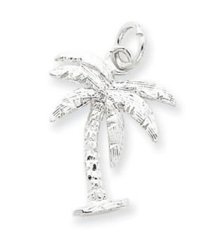 .925 Sterling Silver Tiny Palm Tree Charm - CX113PTHSTL