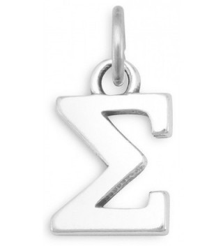 Sterling Silver Charms- 1/2 inch tall- Greek Letters - Sigma - CS1822O958X
