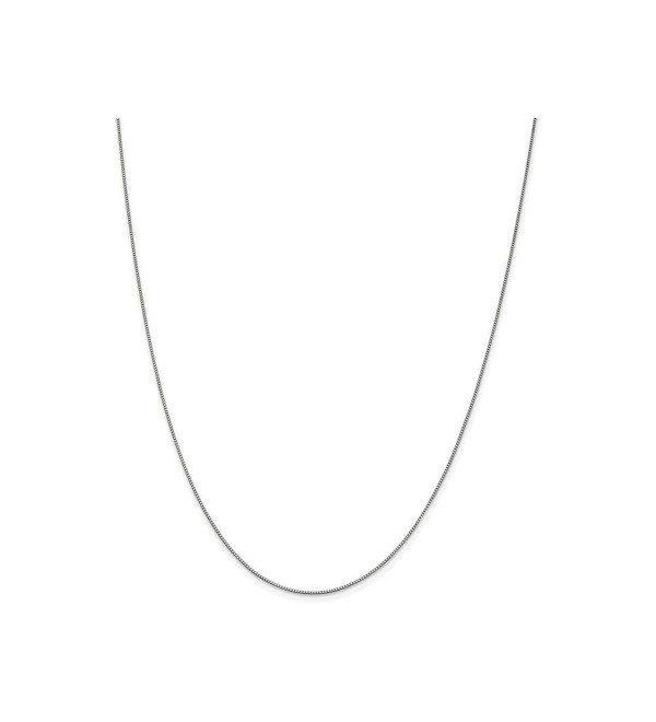 Finejewelers 10k White Gold .7mm Box Chain - CI11TYOTMLD
