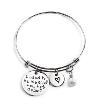 Yolanda I Used To Be His Angel Now He's Mine Grandpa Dad Memorial Necklace/Bracelet Bereavement Gift - CL1867LNIMA