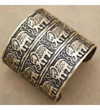 Fashion African Embossed Elephant Bracelet