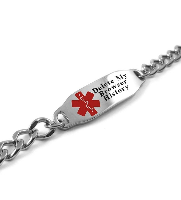MyIDDr - Customizable Delete My Browser History Bracelet- LOL Gift- Geeky Gadget - RED - CH11RFYKS8Z