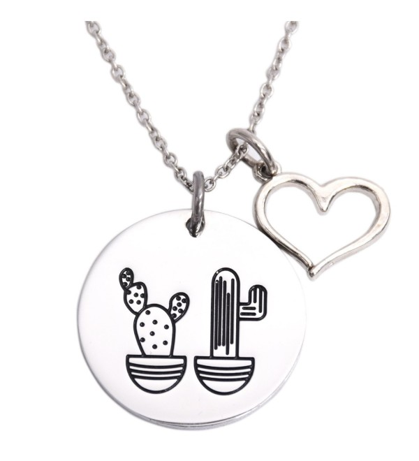Cactus Necklace We Stick Together Best Friend Necklace Stainless Steel Sister Necklaces - Necklace - CX1864AL9Z2
