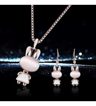 Yonteia Jewelry Necklace Earrings Valentines in Women's Jewelry Sets