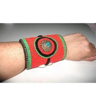 Tribal Bracelet Ethnic Indian American in Women's Cuff Bracelets