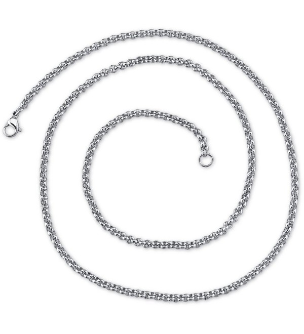 2mm Stainless Steel Rolo Chain Necklace available in 16- 18- 20 and 22 inch length - CV11745URLD