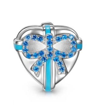 """NinaQueen """"Love Gift"""" 925 Sterling Silver Heart Clip Bead Charms - C211Y257TY1"""