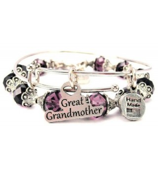 Great Grandmother Collection Crystal Bangle Set in Plum Purple - CX11VX5F75B