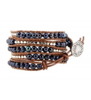 Stackable Freshwater Cultured Silver Bracelet