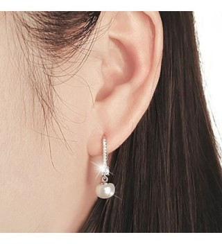 Earrings Sterling Freshwater Cultured Leverback