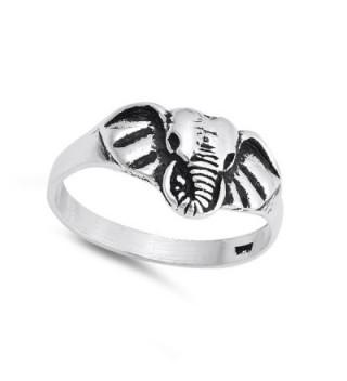 Elephant Animal Statement Sterling Silver