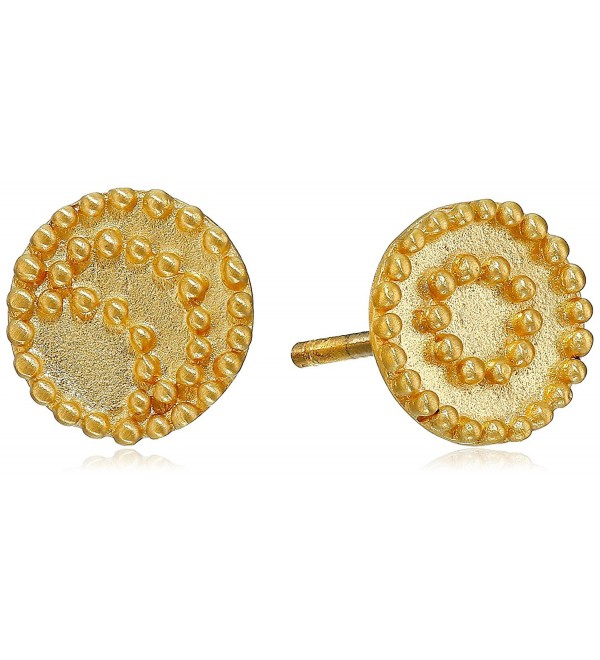 Satya Jewelry Celestial Gold-Plated Sun and Moon Stud Earrings - CB119USLWQL