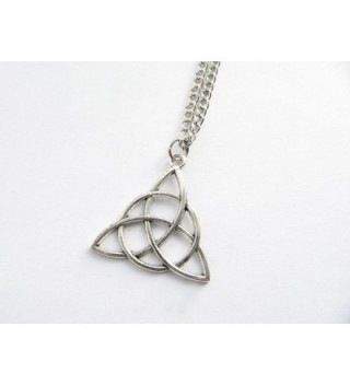 Celtic Triquetra Necklace Trinity trinity in Women's Lockets
