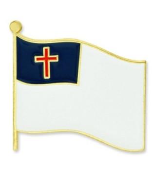 PinMart's Christian Flag Religious Enamel Lapel Pin - C612O7T3EUY