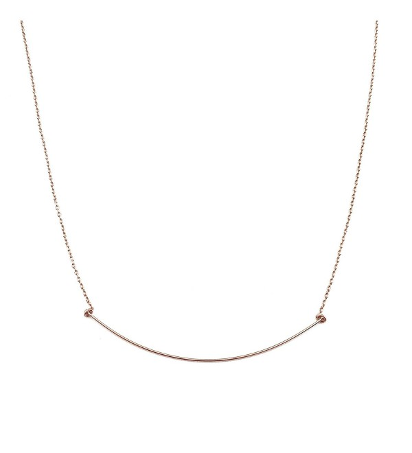 HONEYCAT Whisper Thin Curve Bar Necklace in Gold- Rose Gold- or Silver | Minimalist- Delicate Jewelry - CD12N0K0FEV