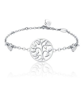 BlingGem Tree of Life Bracelet For Women 925 Sterling Silver Chain Link Bracelet-Christmas Jewelry Gift for Women - CC186ZTAYWK