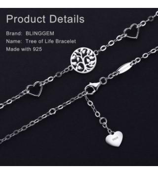 BlingGem Bracelet Sterling Bracelet Christmas Jewelry in Women's Link Bracelets