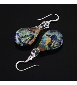 Sterling Silver Glitter Butterfly Earrings