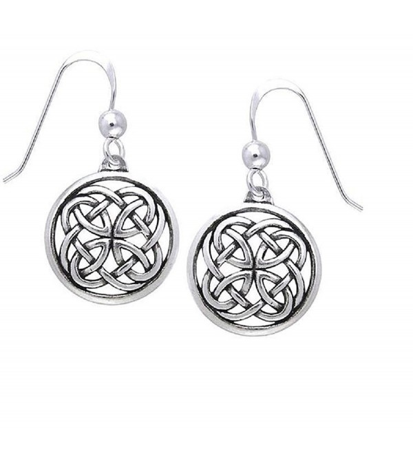 Jewelry Trends Sterling Silver Celtic Unity Knot Woven Dangle Earrings - CE11FB5BOHJ