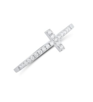 Sterling Silver Stackable Sideways Cross