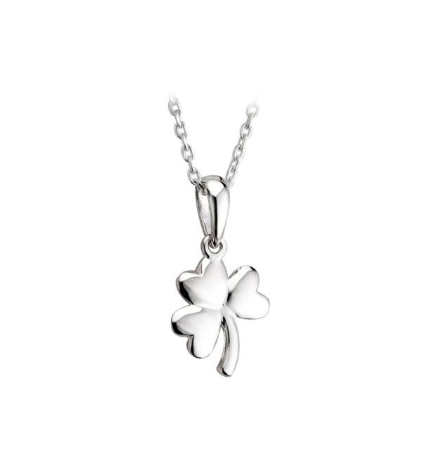 Jewelry Irish Shamrock Necklace Sterling Silver Made in Ireland - CH114U1L899