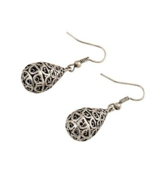 EXCEED Filigree Teardrop Dangling Earrings in Women's Drop & Dangle Earrings