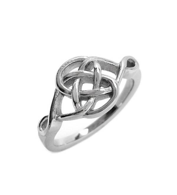 Stainless Steel Celtic Knot Love Promise Committment Ring (Size 5 - 10) - CB12FAFF61X