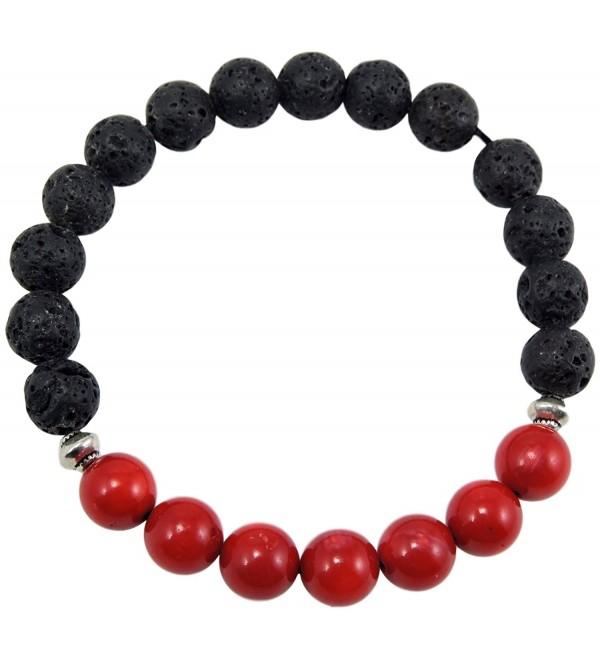 Volcanic natural lava yoga meditation healing wrist mala bracelet CL-13 - CC185WQ96XL