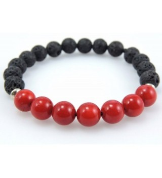 Volcanic natural meditation healing bracelet in Women's Stretch Bracelets