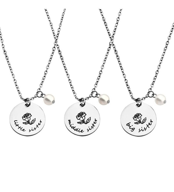 ZuoBao Sister Necklace Sisters Jewelry - 3pc Sister/Set - CQ187RD56HH