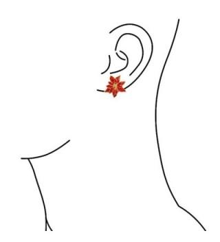 Bling Jewelry Poinsettia Flowers Earrings in Women's Clip-Ons Earrings