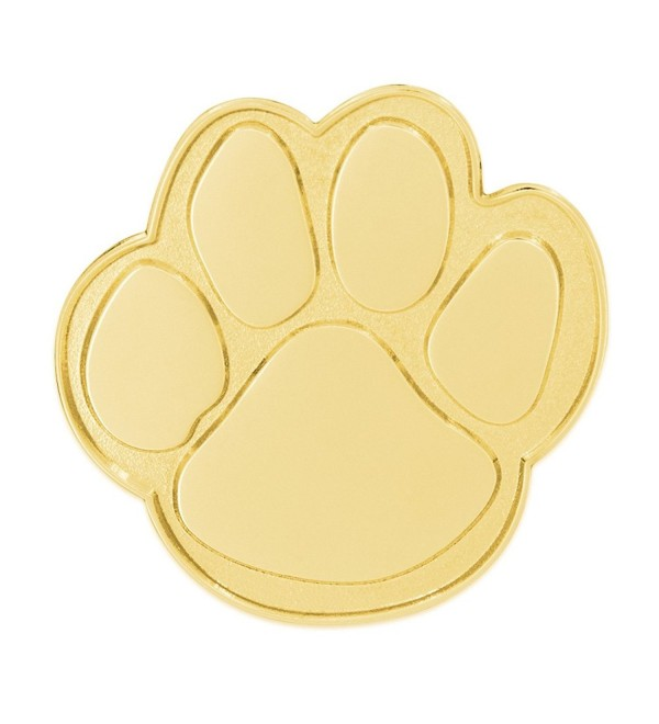 PinMart's Gold Animal Paw Print School Mascot Lapel Pin - CJ11IY3RVFJ