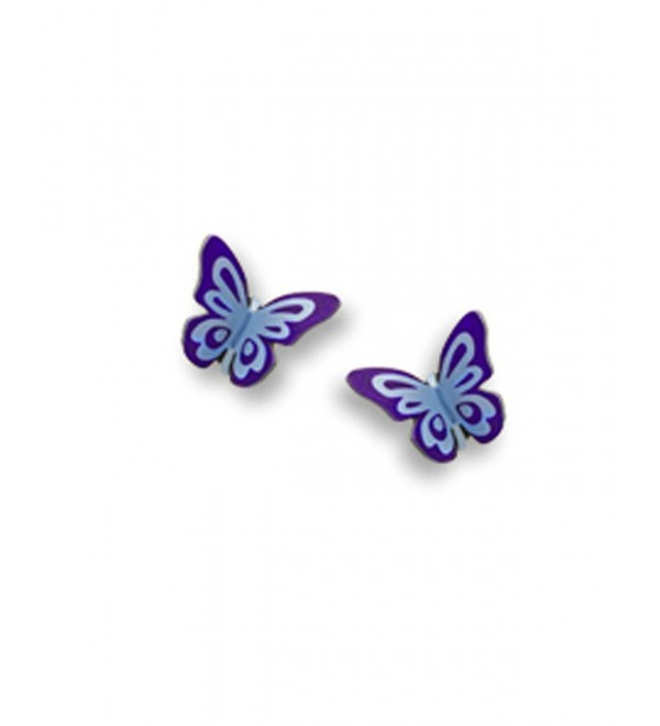 Purple Butterfly Folded Post Earrings Made in USA by Sienna Sky si1744 - CG11CUSSCGL