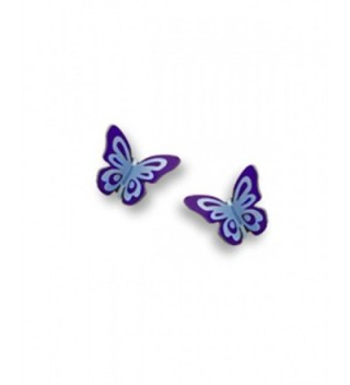 Purple Butterfly Folded Post Earrings Made in USA by Sienna Sky si1744 - CG11CUSSCGL
