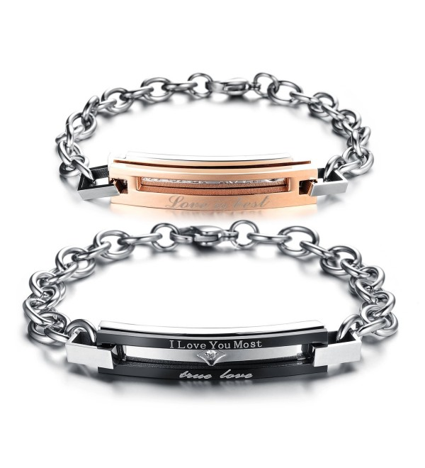 Matching Titanium Stainless Bracelet Anti fatigue - CQ12D6UGM8L