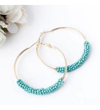 Earrings Plated Beaded Bohemian Turquoise