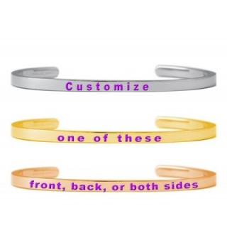 PERSONALIZE YOUR MANTRA PHRASE Dolceoro - 2-Sided-Silver Color - CL12O1YYKAX