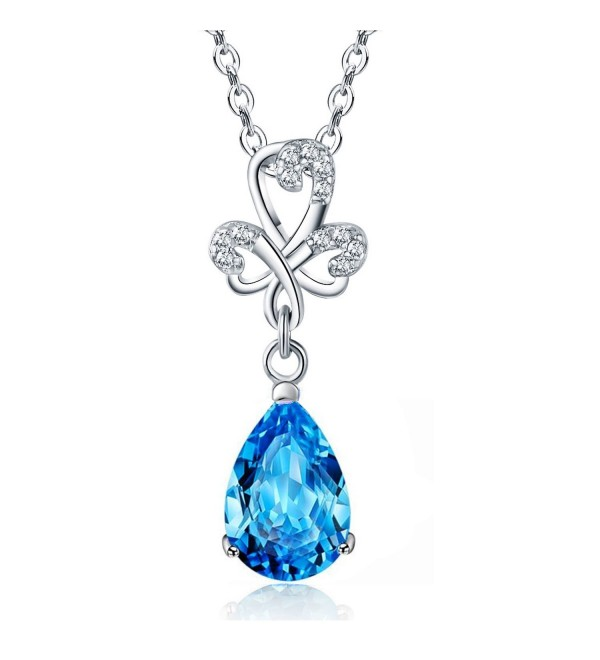 Sephla Jewelry Zirconia Earrings Necklace - Blue Necklace 2 - CC188DYUMLD