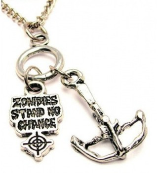 """ChubbyChicoCharms Crossbow And Zombies Stand No Chance Multi Charm Cluster 18"""" Necklace - C011HRH92ZF"""