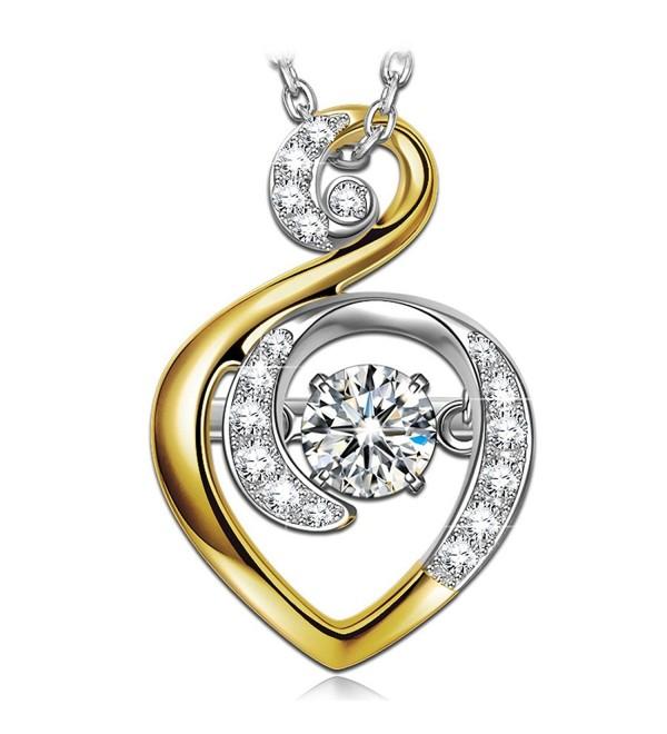 Necklace Sterling Swarovski Anniversary Valentines - C5187099OW3