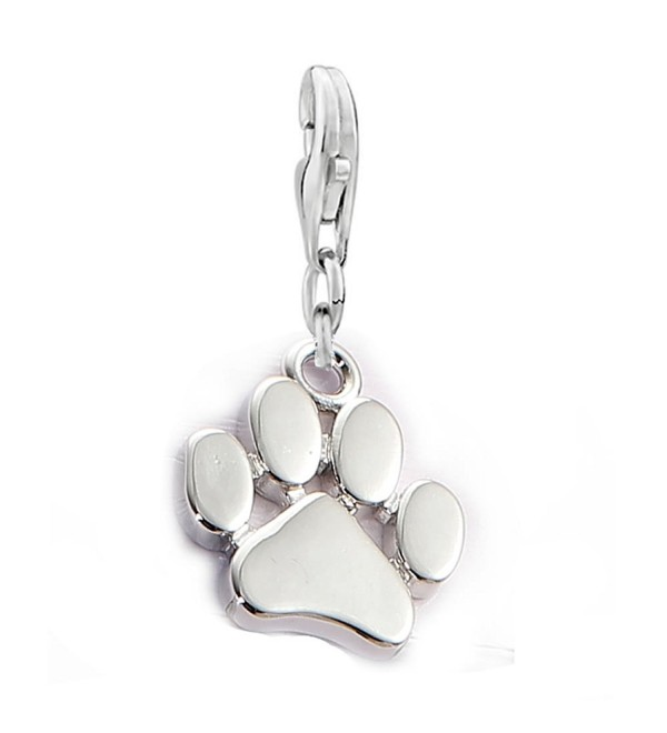 Dog Paw Clip on Lobster Clasp Claw Charm for Bracelet - C512O0JXAWU