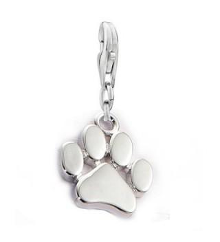 Dog Paw Clip on Lobster Clasp Claw Charm for Bracelet - C512O0JXAWU
