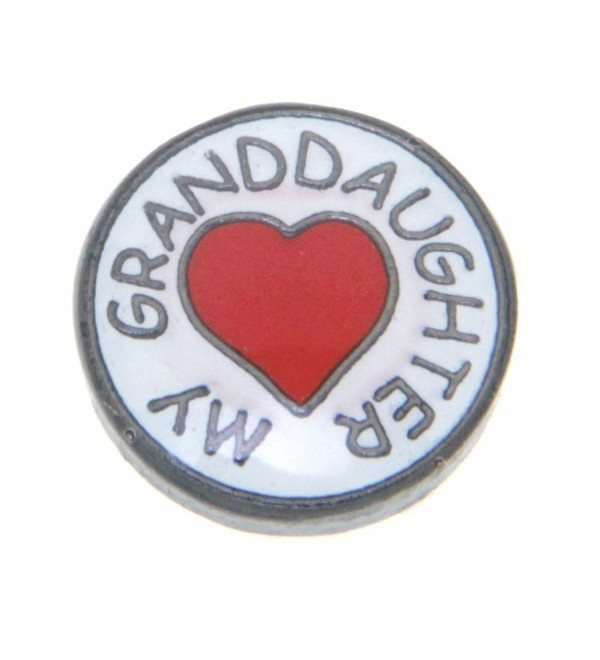 Heart My Granddaughter Floating Locket Charm - CH11CT2R5W5