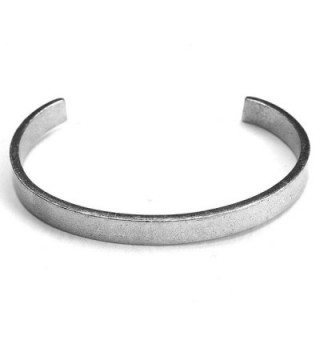 Women's Note To Self Inspirational Lead-Free Pewter Cuff Bracelet - Peace Comes Within - CT11Y7HGJWH