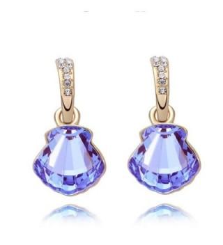 St Ushine Seashell Birthday Festival Earrings - Earrings- Purple - CQ1822Z98EG