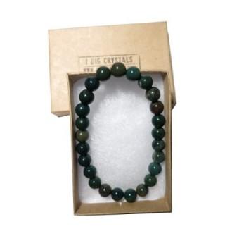 Bloodstone Bracelet 20 Stretch Crystal