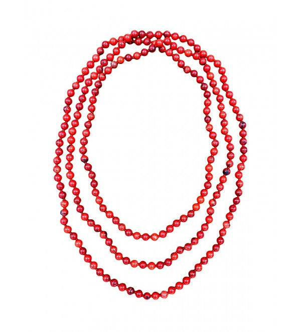 BjB 80 Magnesite Multi layer Beaded - Red Magnesite - C8186QHR64X