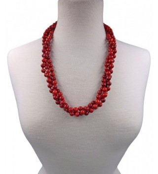 BjB 80 Magnesite Multi layer Beaded in Women's Strand Necklaces